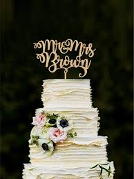 wedding cake name mr and mrs wedding cake topper with last name custom and