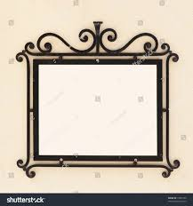 Old Fashioned Picture Frames Oldfashioned Iron Frame On Wall Stock Photo 15853159 Shutterstock