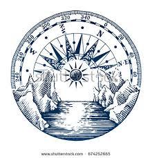 wanderlust poster compass vector travel adventure stock vector