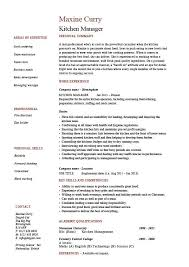 Resume Examples For Cooks by Kitchen Manager Resume Sample The Best Resume