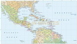 Southern Caribbean Map by Map Of Usa And Caribbean My Blog