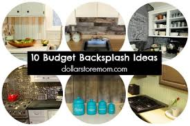 cheap kitchen backsplash ideas pictures 10 budget kitchen backsplash ideas dollar store