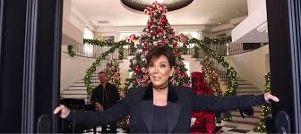 themed christmas decorations check out kris jenner s rainbow themed christmas decorations