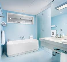 awesome modern design of the cream and blue bathroom ideas that