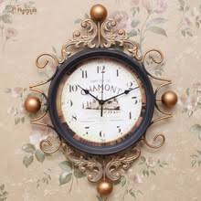 popular iron flower wall clock buy cheap iron flower wall clock
