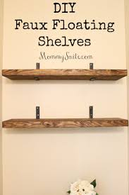 How To Decorate Floating Shelves Diy Faux Floating Shelves Mommy Suite