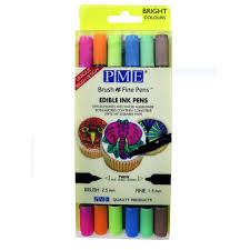 edible pen pme brush n bright edible pen pack of 6 cake decorating