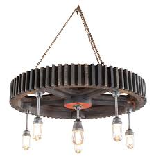 Pendant Lights Sale Chandelier Vintage Industrial Pattern Wood And Glass Light