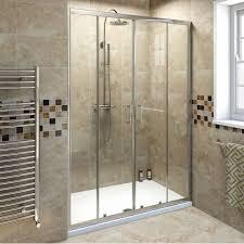 bathroom elegant frameless sliding glass shower doors with