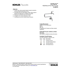 Kitchen Pot Filler Faucets by Kohler K 99270 Cp Artifacts Polished Chrome Pot Filler Kitchen