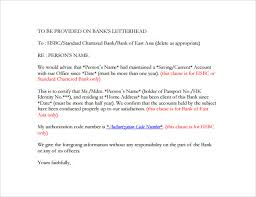 6 bank reference letters samples format examples sample letters