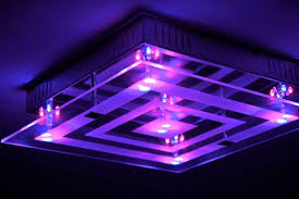 led colour changing ceiling flush light with remote