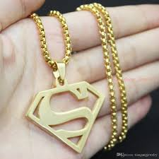 man charm necklace images 2018 fashion cheap jewelry necklace super man s sign charm jpg