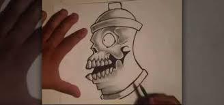 how to draw a skull spraycan with wizard graffiti u0026 urban art