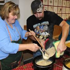 free thanksgiving dinner held at friedens lutheran church in new