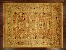 Traditional Persian Rug by Oushak Collection Traditional 9x12 Peach Pakistani Chobi Oriental