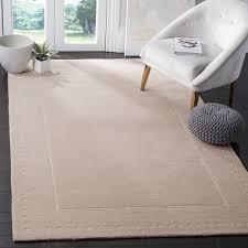 light pink wool rug safavieh bella contemporary handmade light pink ivory wool rug 6