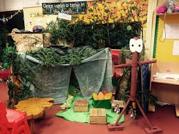 year one role play story forest we recycled the christmas tree