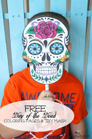 day of the dead masks day of the dead mask printable