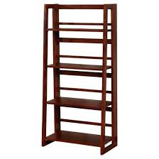 Dark Cherry Bookcase Dolce 4 Shelf Folding Bookcase 48