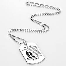 necklace pendants personalized images Dad mom to son dog tag necklace military mens jewelry personalized jpg