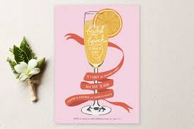brunch bridal shower invites mimosa brunch bridal shower invitations by shiny studio minted
