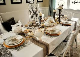 Gold Table Setting by Kitchen Table Setting Ideas Home Design Ideas