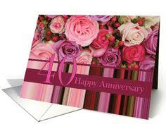 39th wedding anniversary card pastel roses and stripes card