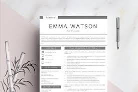 resume template cover letter resume templates creative market