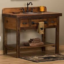 Bathrooms Vanities Reclaimed Barnwood Open Vanity Rustic Bathrooms Vanities And Cabin