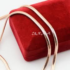 red chain link necklace images 3mm women men rose gold filled snake chain link necklace cool jpg