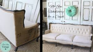 How To Build A Sofa Frame How To Upholster A Couch Youtube