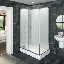 Bathroom Shower Trays by Glass Backed Rectangular Shower Cabin 1200 X 800 Shower Cabin