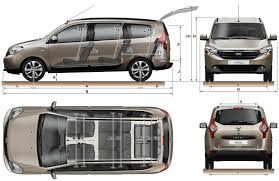 renault lodgy les dimensions du dacia lodgy auta pinterest