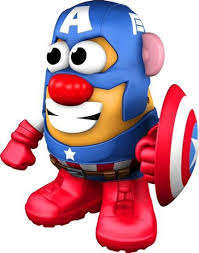 Potato Head Kit Disguise Marvel Captain America Potato Head Captain America Figure Ppw