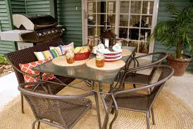 Patio Table Accessories by Budget Friendly Backyard Patio Reveal Living Rich On Lessliving
