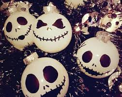 skellington ornaments one dozen