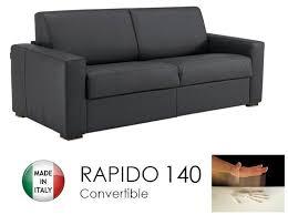 canape convertible rapido 140cm dreamer cuir eco gris graphite