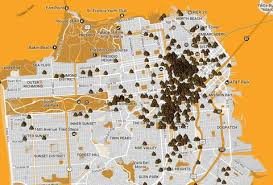 san francisco map human map plots all of san francisco s thrillist