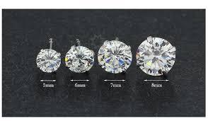 brinco zirconia brinco zirconia solitá masculino prata 925 6 7 8 9 10 r 139