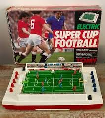 electronic table football game vintage tomy electric super cup football tabletop electronic soccer
