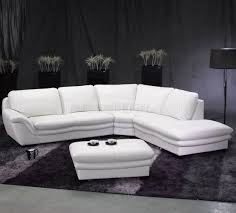 Sectional Couch With Ottoman by White Leather Contemporary Sectional Sofa W Ottoman