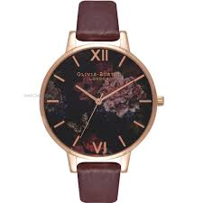 ladies u0027 olivia burton winter garden floral burgundy u0026 rose gold
