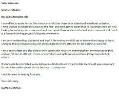 sales associate cover letter cover letter tips for sales
