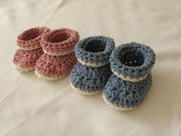 easy crochet cuffed baby booties tutorial roll top baby