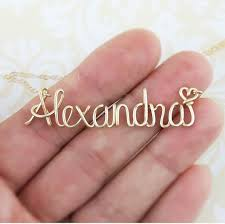 custom name jewelry personalized name necklace custom name necklace 14k gold name
