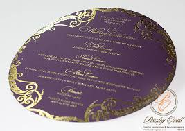 foil sted wedding invitations paisley quill style wedding accessories