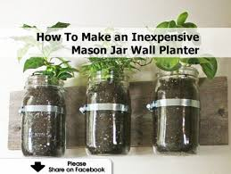 Mason Jar Wall Planter by Mason Jar Planter Ajarin Us