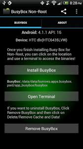 android terminal apk app busybox for non root phones android development and hacking