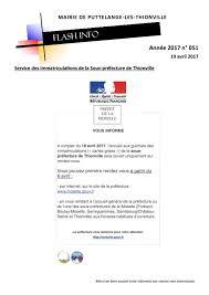 bureau des immatriculations flash infos 2017 12 17 puttelange lès thionvilleputtelange lès